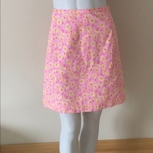 Lilly Pulitzer floral a-line skirt Size 2